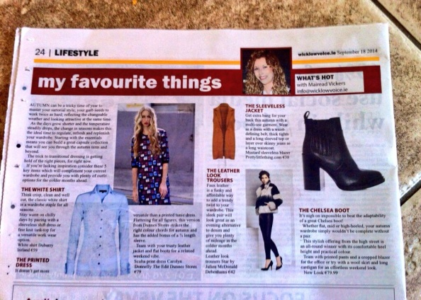 Fashion page Wicklow Voice 18/9/14